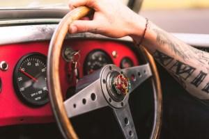 vintage wood steering wheel