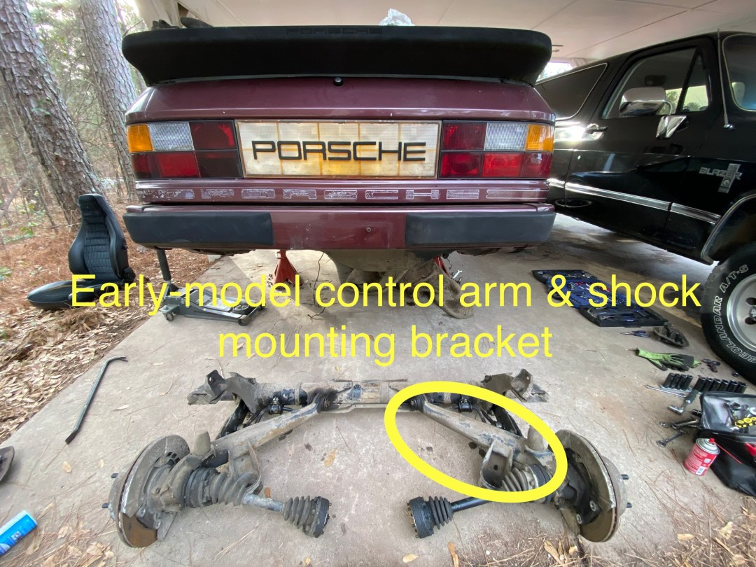 early model 944 control arm
