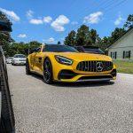 Yellow Mercedes AMG GT-C