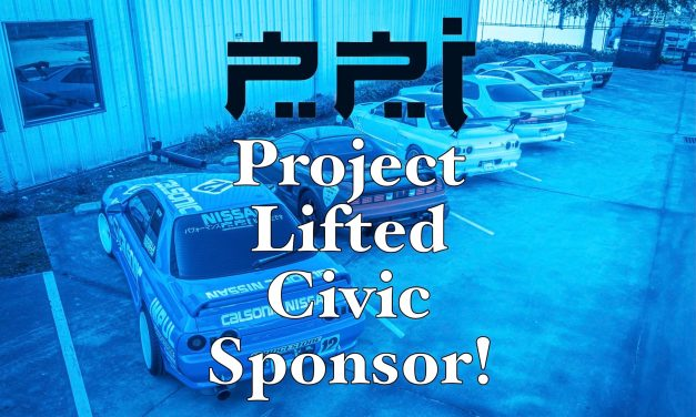 Lifted Civic Update #7: BIG News! Our First (Of Many) Sponsor, Plus New Front Seats!