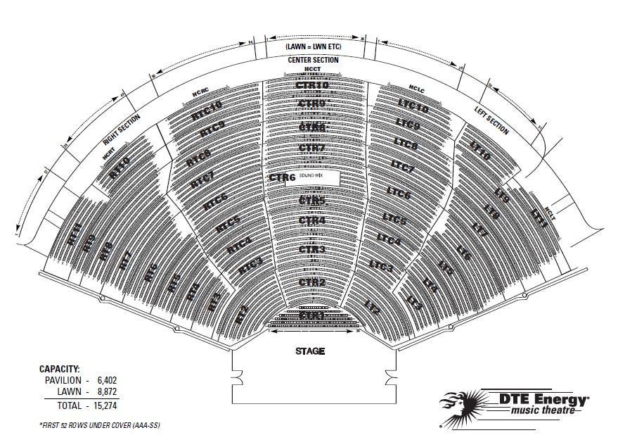 New Dte Energy Seating Chart Dte Seating Chart With Seat