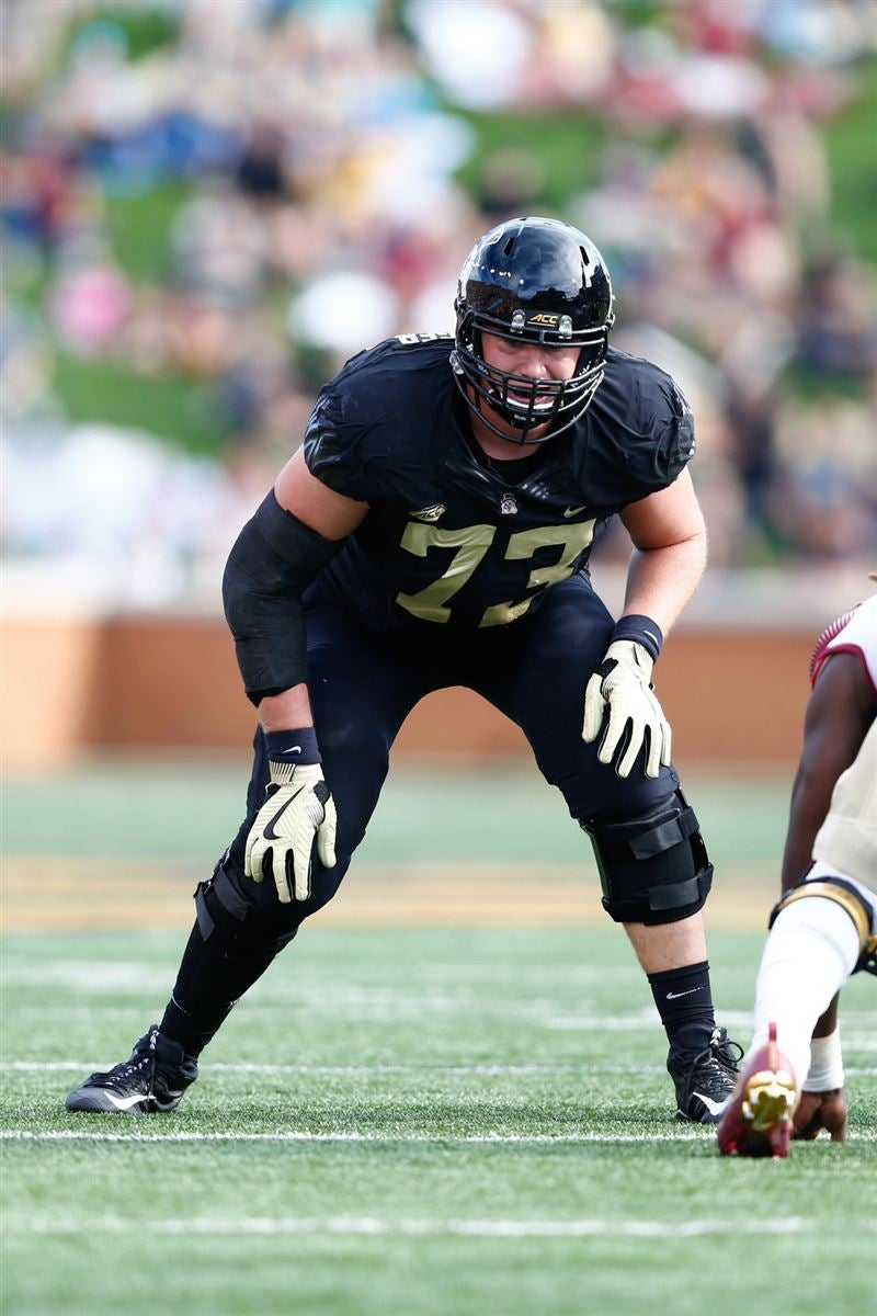 Wake forest demon deacons offensive lineman jake benzinger lines up during the game against florida state seminoles at bb   field also football offense depth chart projections rh sports