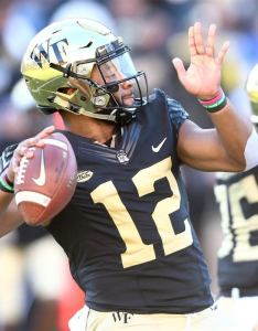 also wake forest football way too early offensive depth chart rh sports