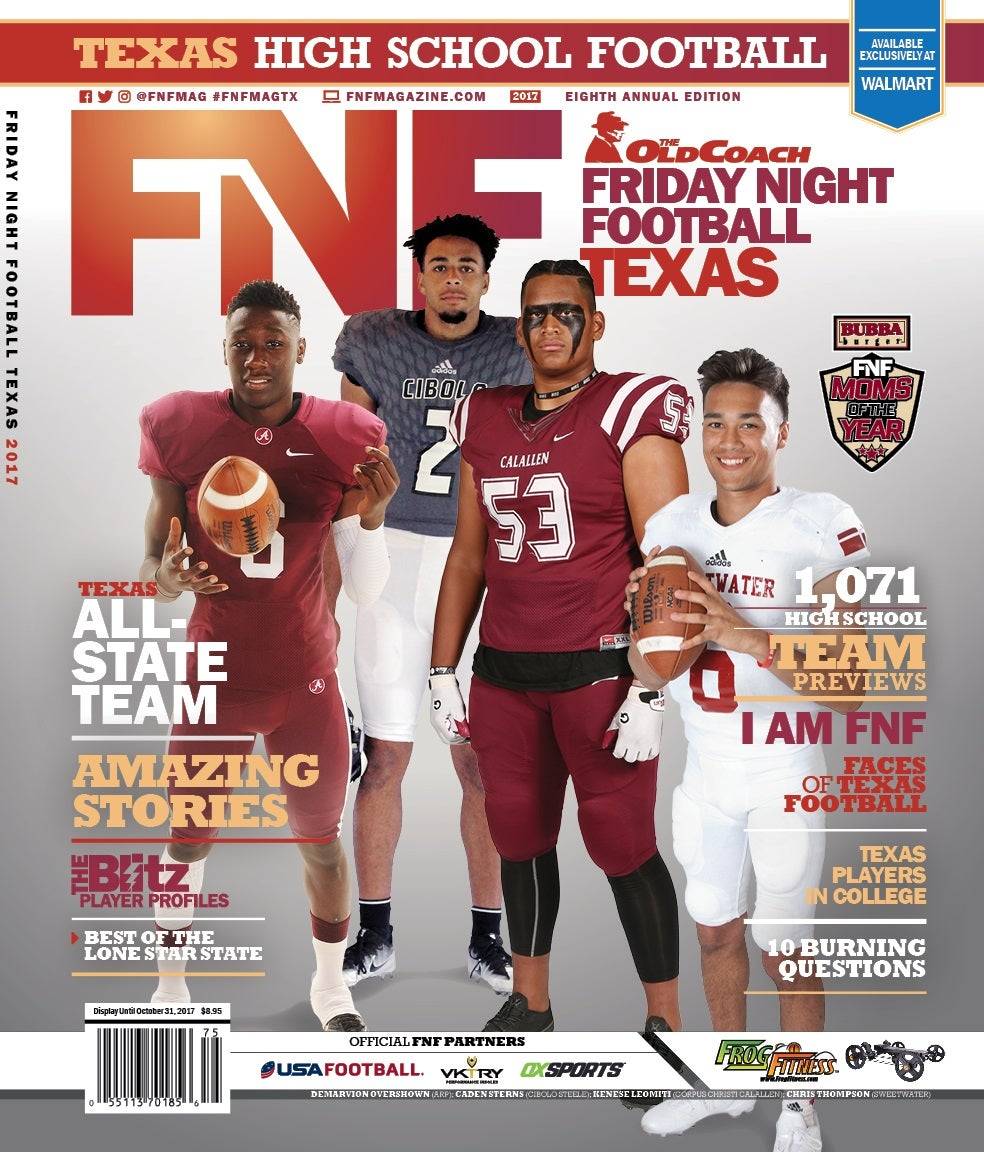 The Old Coach FNF Texas High School 2017 Magazine Cover