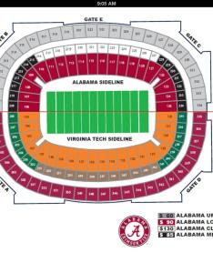 Copy to clipboard also here is the seating chart for alabama vs virginia tech game rh sports