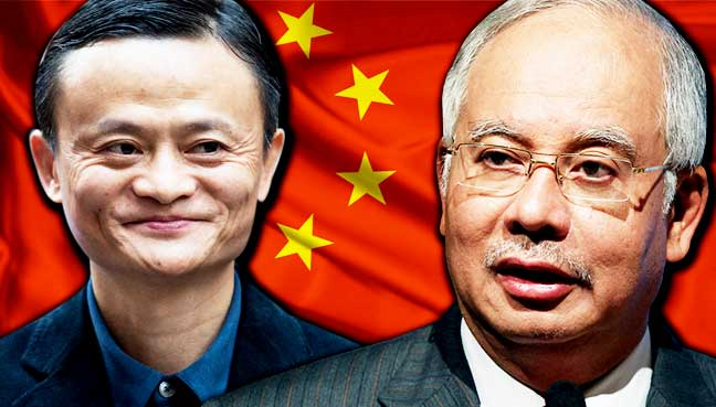 Image result for Najib in China