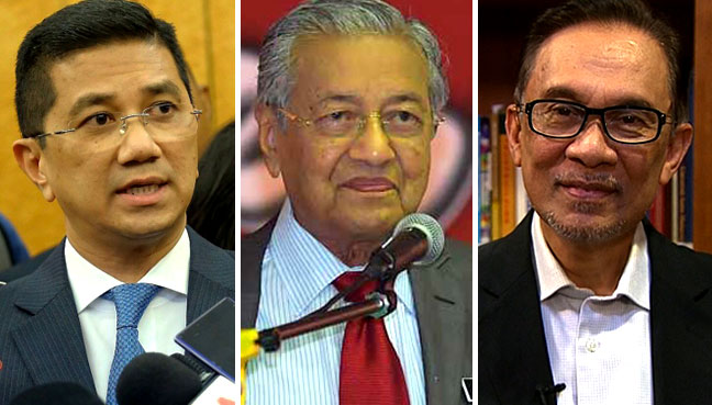 Image result for Anwar. mahathir and Azmin