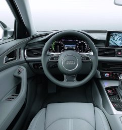 the audi a6 hybrid has three batteries the standard battery in the engine bay then another small battery stores energy for the ac dc converter  [ 1522 x 990 Pixel ]