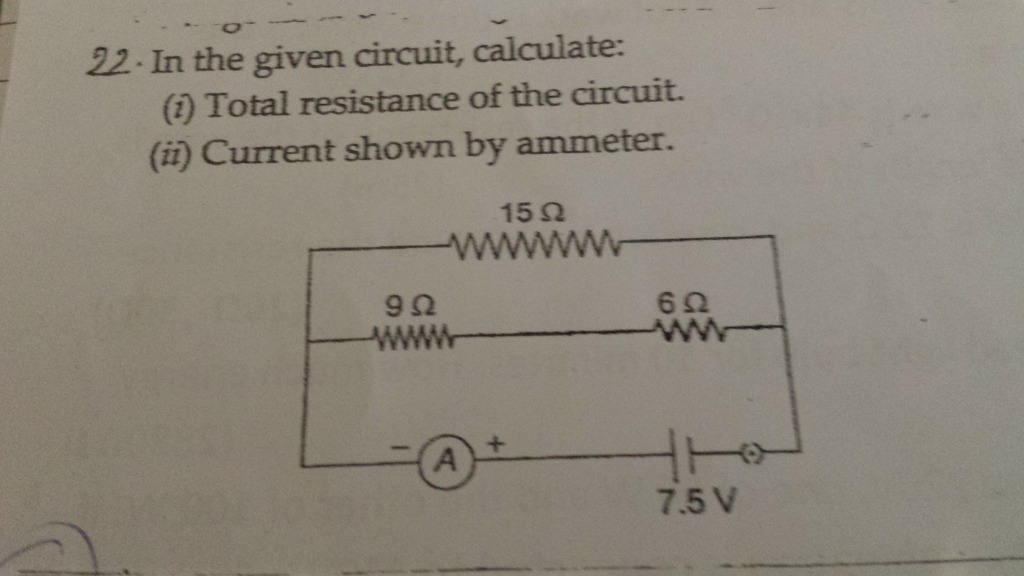 Total Resistance In Series Circuit