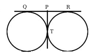 2 QR is a common tangent to the given two circles