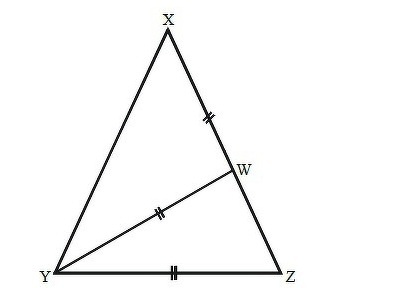 In the diagram, XYZ is isosceles with XY = XZ Also, point