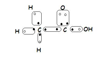 what will be the electron dot structure for ethanoic acid
