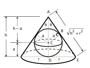 a cone is circumscribed to a sphere of radius r show that