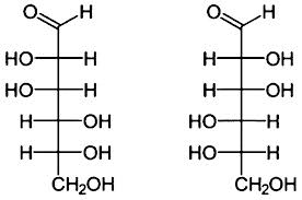 draw the simple Fischer projections of d glucose and l