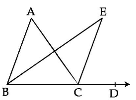 In the given figure, if BEis a bisector of angleABC and CE