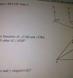 if ad and bd are bisected of angle cab and angle cba respectively find the value of angle adb [ 1024 x 768 Pixel ]