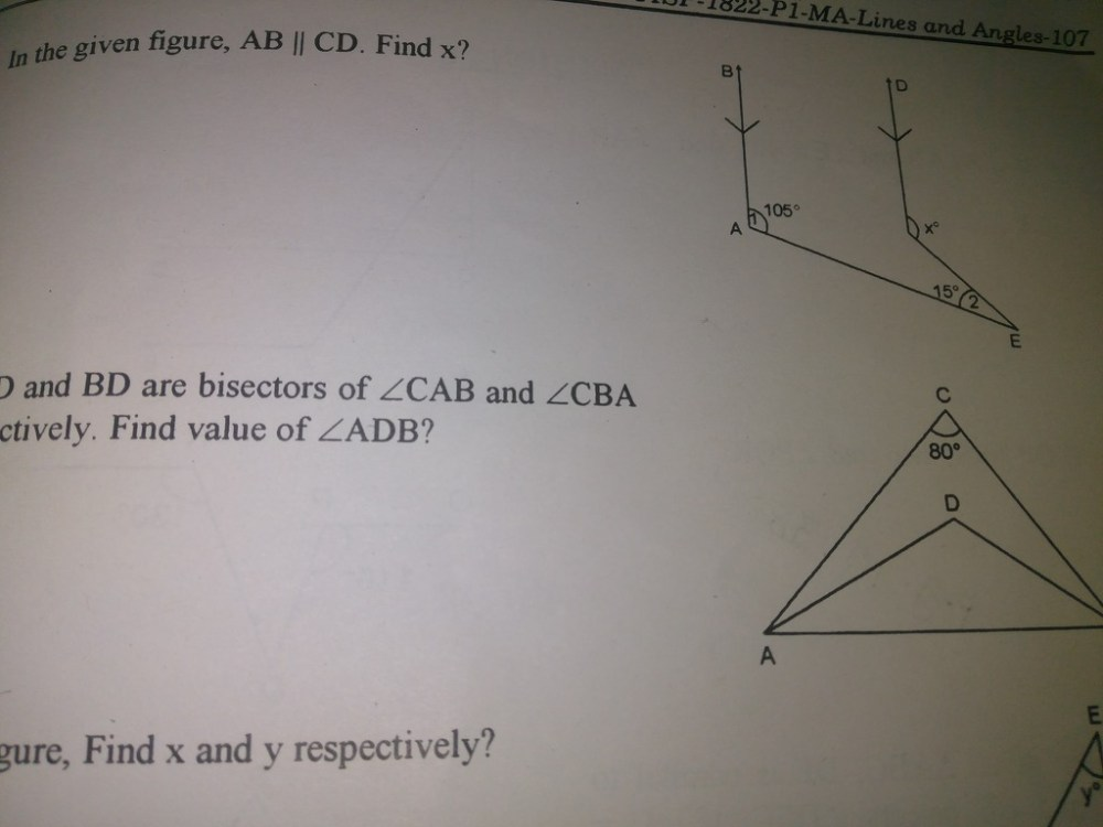 medium resolution of if ad and bd are bisected of angle cab and angle cba respectively find the value of angle adb