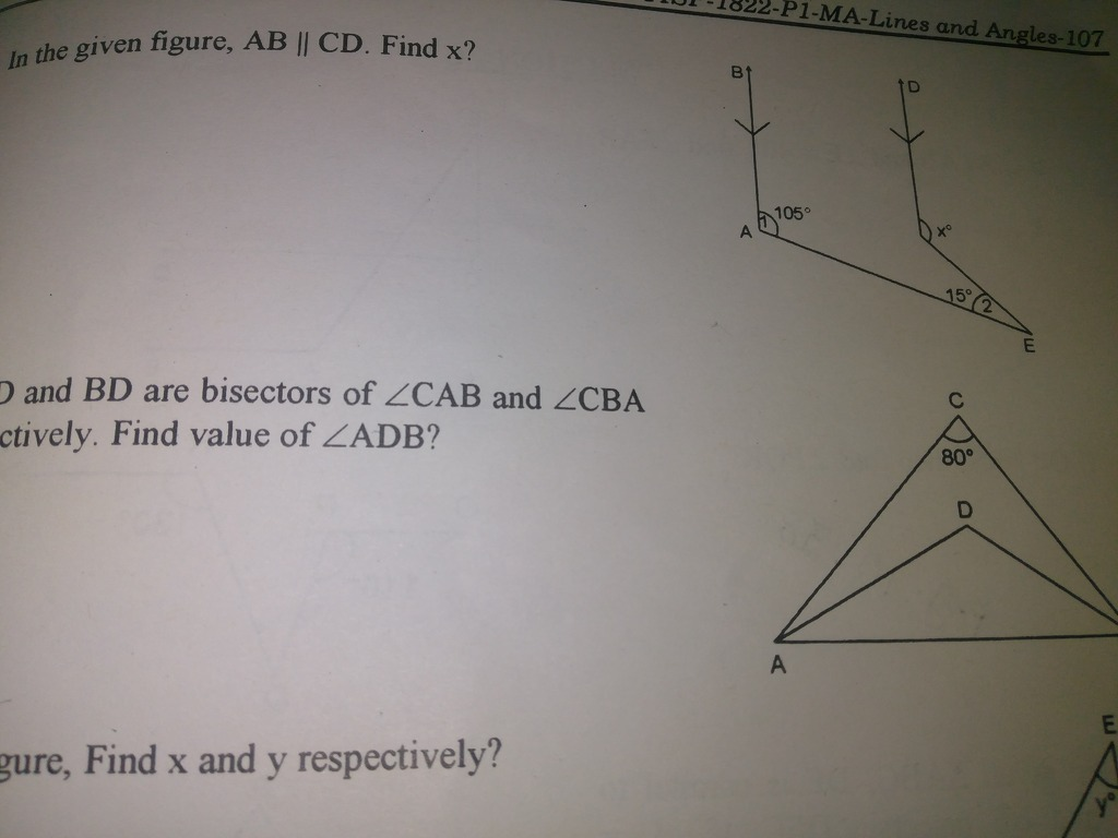 hight resolution of if ad and bd are bisected of angle cab and angle cba respectively find the value of angle adb