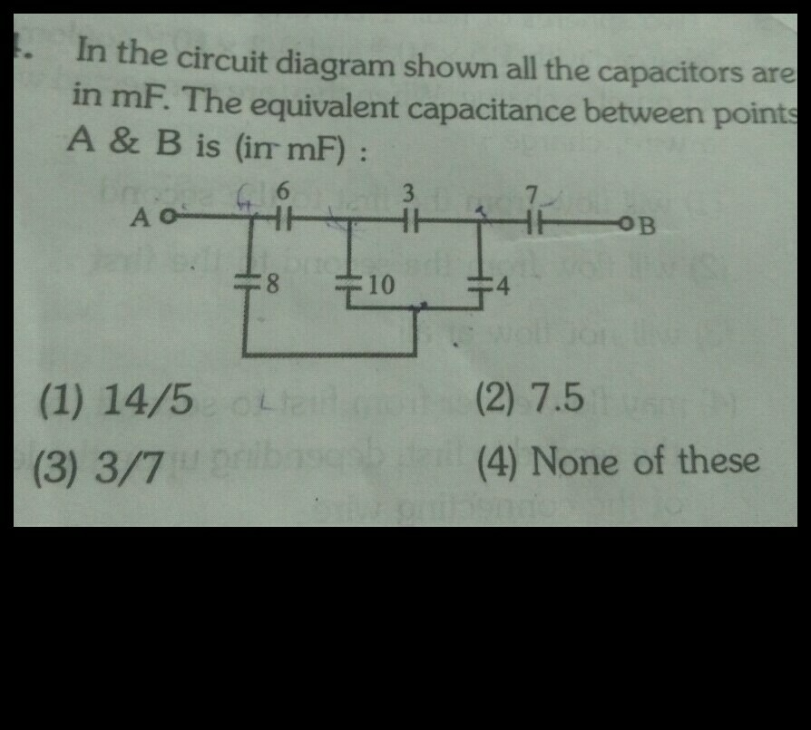 how to solve circuit diagrams 1964 chevy nova wiring diagram can anyone this problem please in the shown all capacitors are mf equivalent capacitance between point a b is irrmf