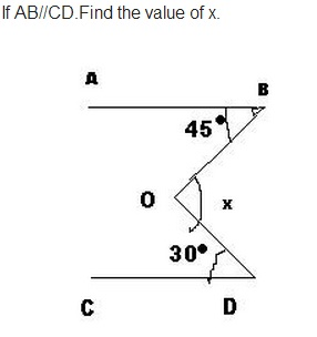 in the given figure shown below, AB is parallel to CD find