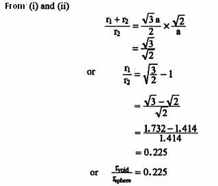 derive the relation between radius of atom , radius of