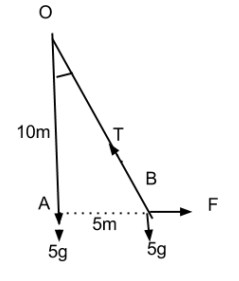 please answer a mass of 5 kg is suspended by a string 10m