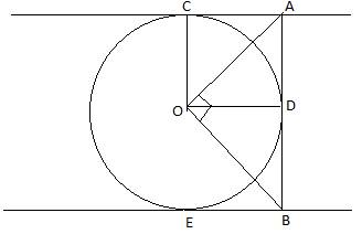 1 prove that the intercept of a tangent between a pair of