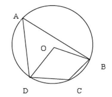 Prove that the opposite angles of a cyclic quadrilateral