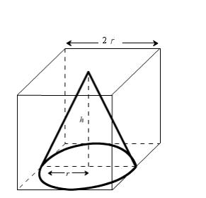 the volume of the largest right circular cone that can be