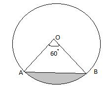 A chord of a circle of radius 14 cm subtends an angle of