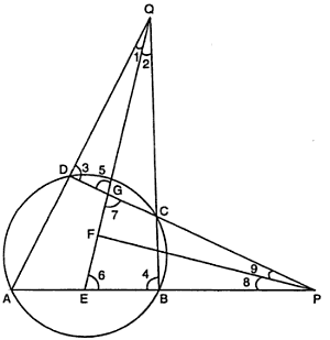 prove that bisectors of angles formed by producing