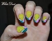 colorful zebra nails - nail art
