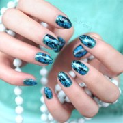 mermaid marble - nail art