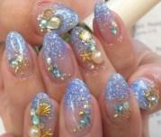 beach nailli - nail art
