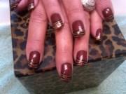 brown zebra - nail art