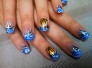 beach front - nail art