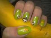 cute monkey - nail art