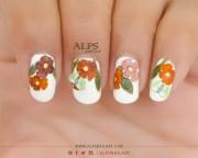 dry flower nails tutorial alpsnailart