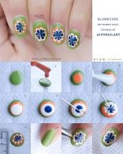 blobbicure dry marble nails alpsnailart