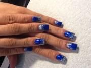 electric blue - nail art