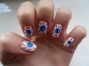 eyeball nails - nail art