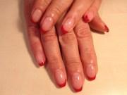 red french nails - nail art