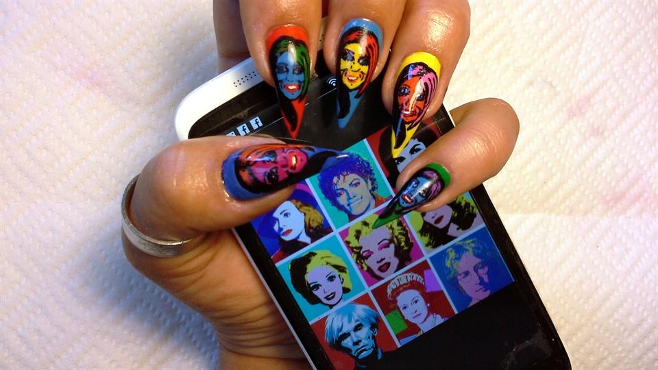 Pop Art Nail Art for Beginners  Nail Art Gallery StepbyStep Tutorial Photos