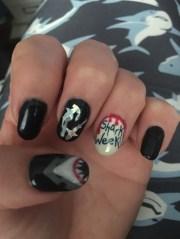 shark week1 - nail art