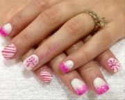 pink christmas - nail art