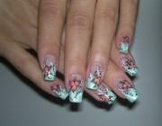 green french manicure nail art