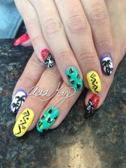 80's 90's nails - nail art