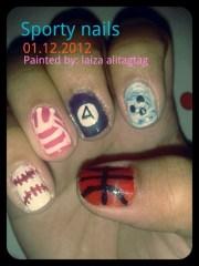 sports nails - nail art