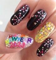 happy year 2013 - nail art