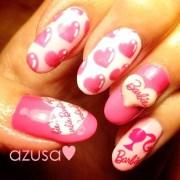 barbie nail - art